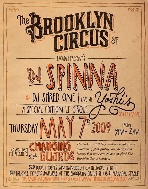 brooklyn circus poster retro western could be hand