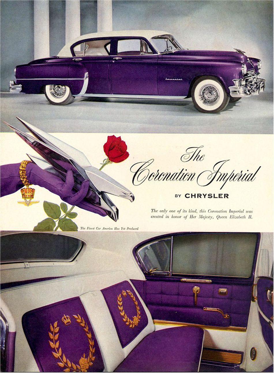 1953 Chrysler Coronation Imperial In Purple Purple Car Chrysler