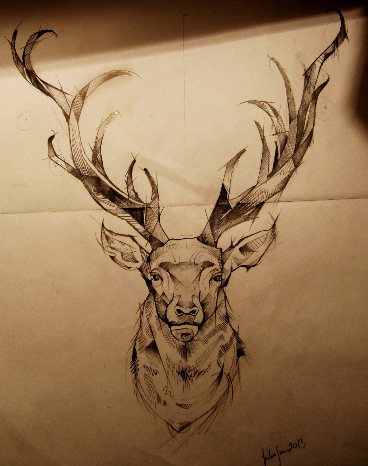 Pin by Edwin @udnhz on Illustrations | Stag tattoo, Elk ...