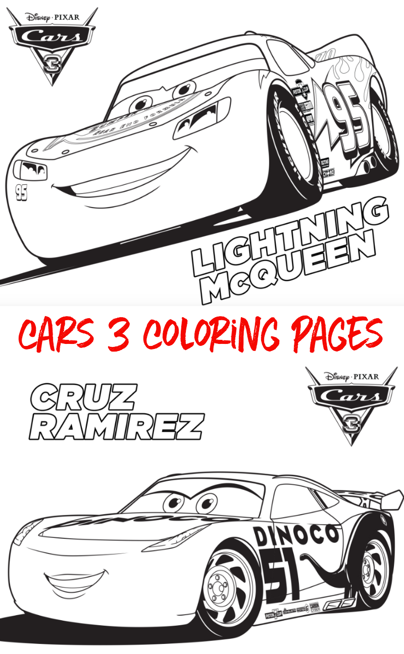Free Cars 3 Coloring Sheets Cars3 Baby Ideas Cars Coloring