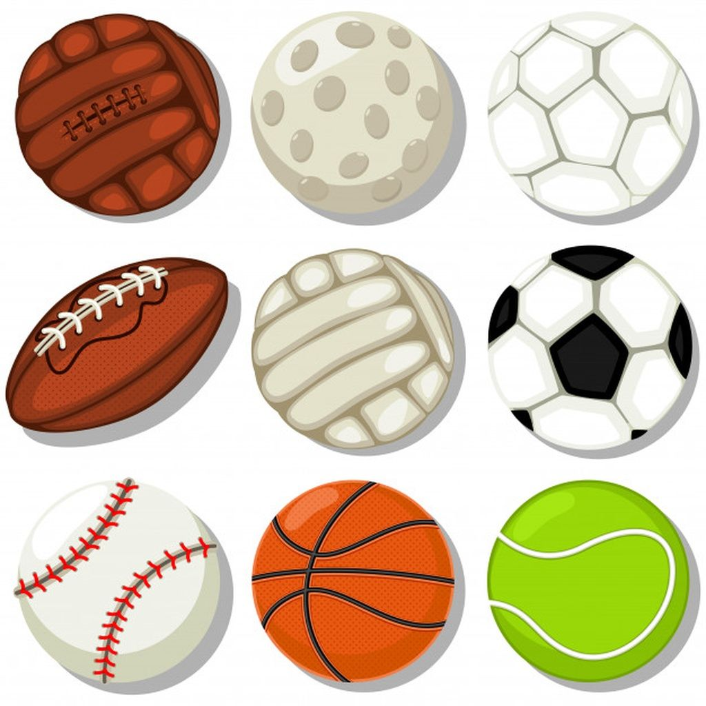 Different Sport Balls Cartoon Icons Set Basketball Soccer Rugby Tennis Baseball Golf Football And Volleyball Illust In 2020 Sports Balls Soccer Different Sports