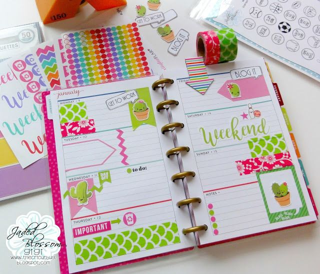 Cactus Planner Pages- Mini Happy Planner | Cricut | Happy