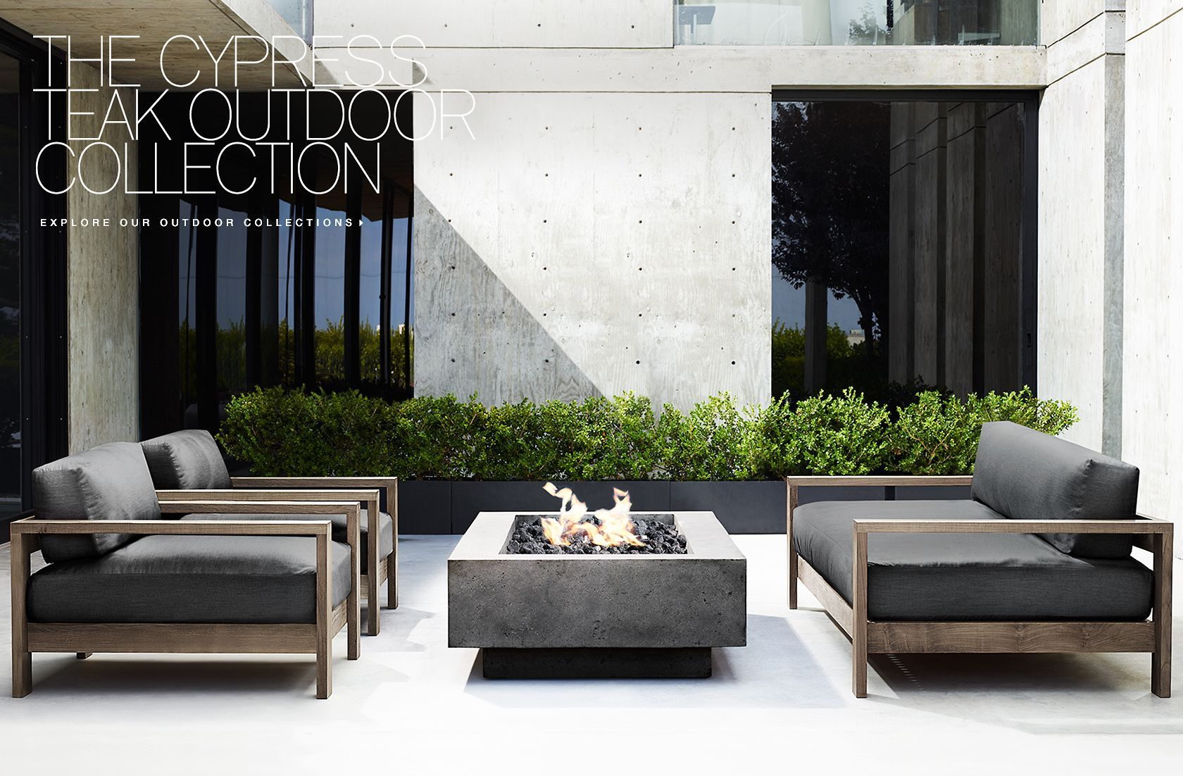 RH Modern Outdoor Collections