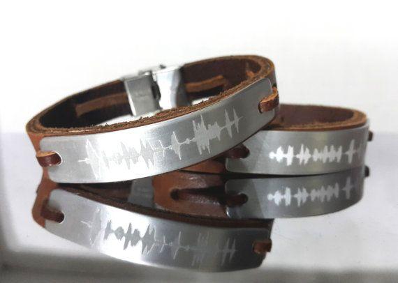 Sound Wave Bracelet 2 Pcs Personalized S By Braceletshomme