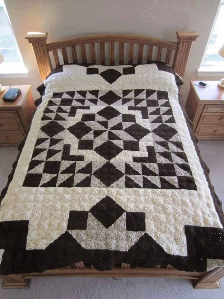 Free Quilt Patterns For Throws : Casablanca Crochet Quilt - Free Pattern Meladoras Creations Community Board Pinterest ...