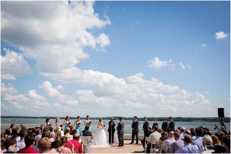 Rooftop Wedding Ceremony Madison Wi Rooftop Wedding Ceremony Photojournalistic Wedding Photography Outdoor Wedding Ceremony