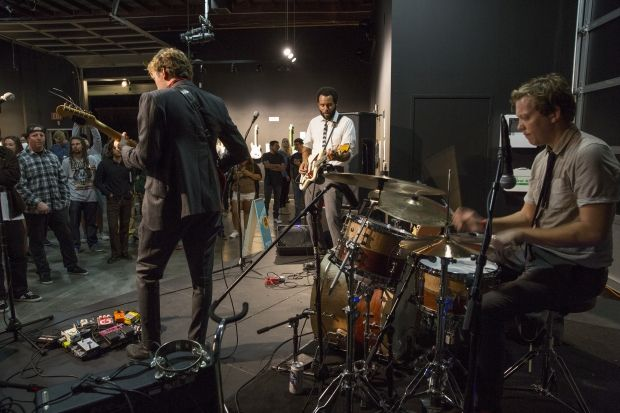 Surf-Jazz and Art Guitars in a Warehouse-Turned-Gallery