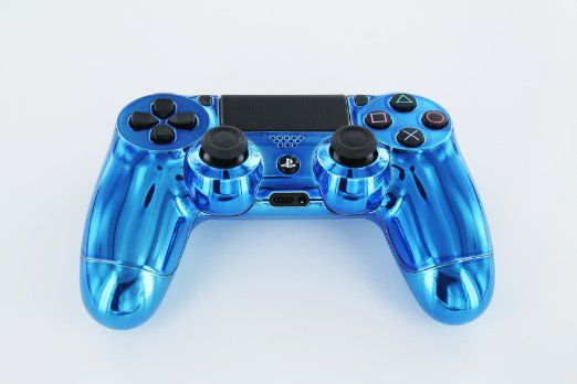 Blue Diamond Ps4 Custom Modded Controller Real Chrome Limited Edition Not Sticker Or Wrap Made In Usa Origina Ps4 Controller Cool Ps4 Controllers Ps4 Skins