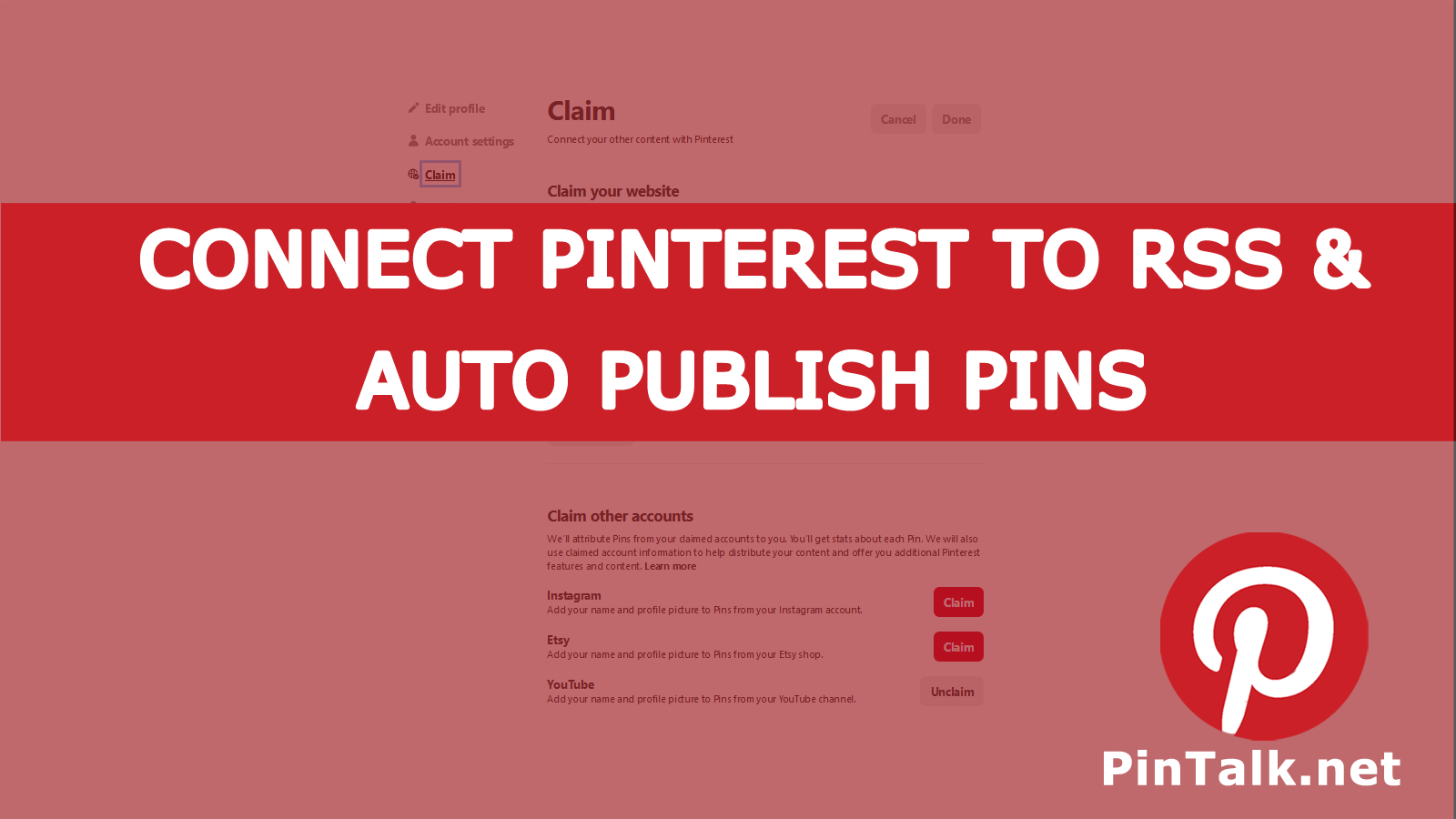 Connect Pinterest To Rss To Auto Publish Pins With Images