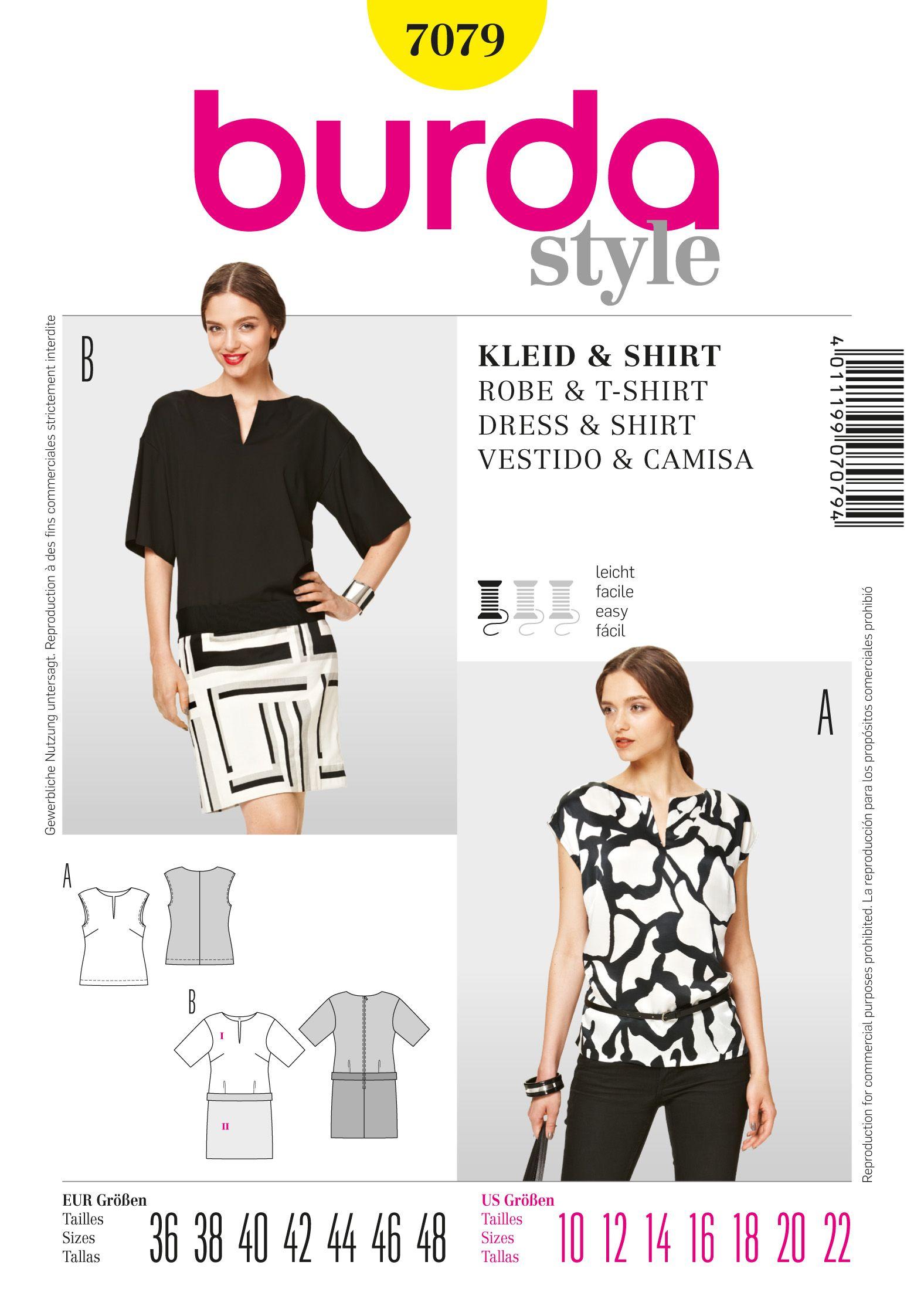 B7079 - Dresses - Burda Patterns | Choses que j\'adore | Pinterest ...