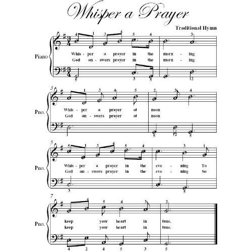 Whisper A Prayer Easy Piano Sheet Music Christian Books