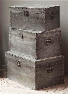 Trunks Nachttisch Grau Holzkiste Bauen Und Kisten