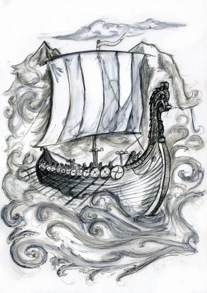 Viking Ship By Willowsmummy With Images Viking Ship Tattoo