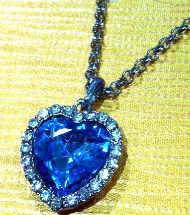 Heart of the ocean titanic film necklace pendant antique replica heart of the ocean titanic film necklace pendant antique replica silver ship wow ebay aloadofball Image collections
