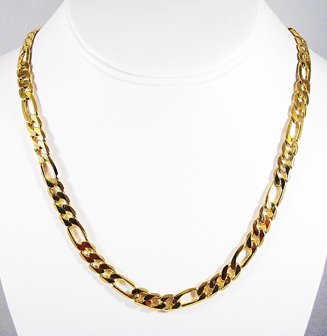7ce7d99e8 gold chains for men | 24K Gold Plated chain necklace for men 70CM 8MM  Stylish Jewelry