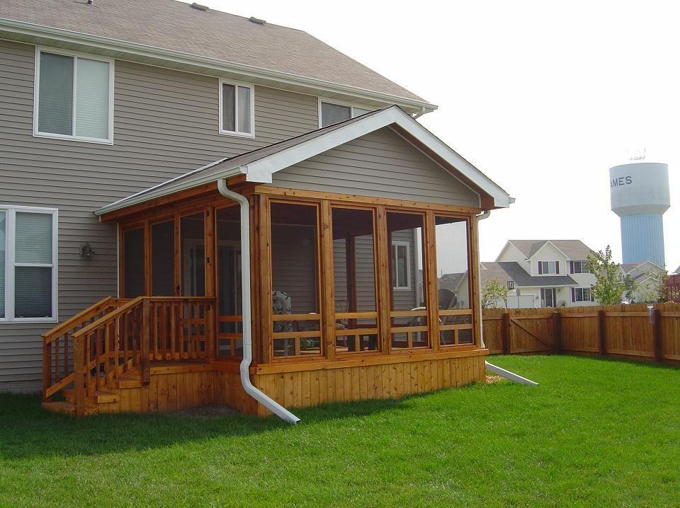 Screened Porches And Decks | Cedar Screen Porch, Ames (exterior View 1)