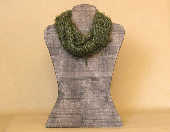 Life Size Scarf Display Figure Wooden Lady Display By
