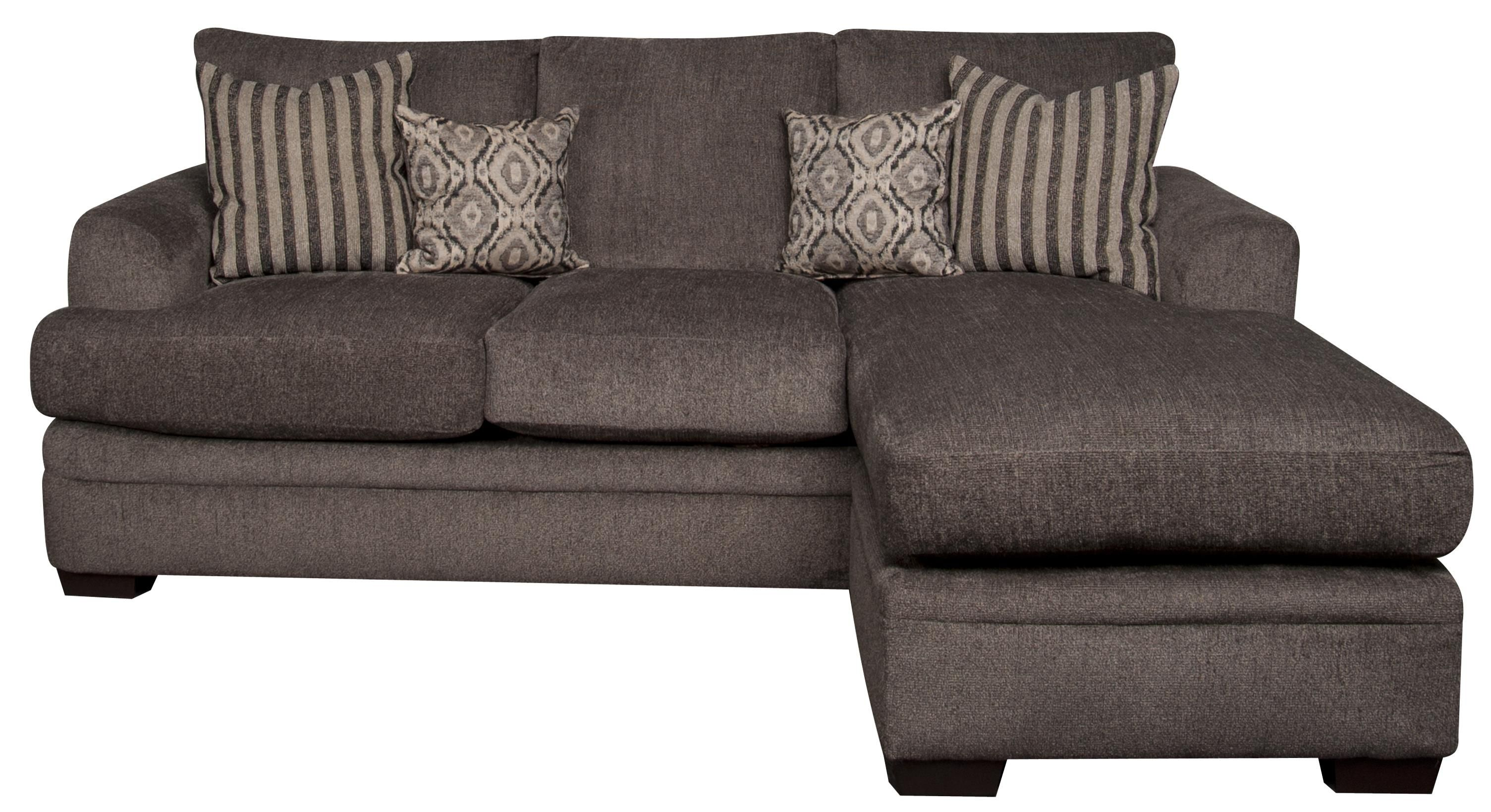 Eva Sofa Chaise With Accent Pillows By Peak Living At Morris Home