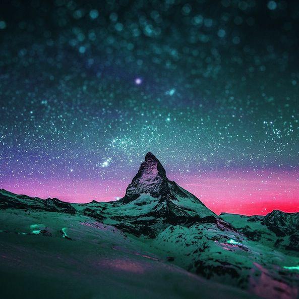 Sfondo Cielo Stellato Notturno Sfondi Nel 2019 Sfondi Cielo