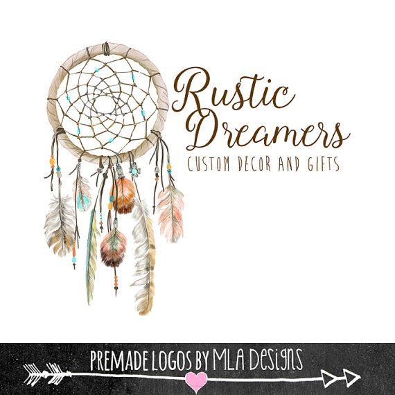 Dream Catcher Logo, Native American Logo, Premade Logo, Custom Logos, Watercolor Logos