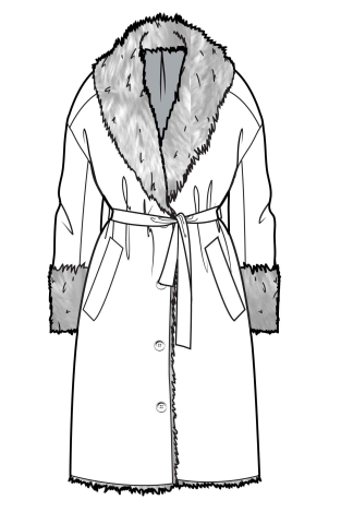 robe style coat flat sketches in 2018 pinterest fashion