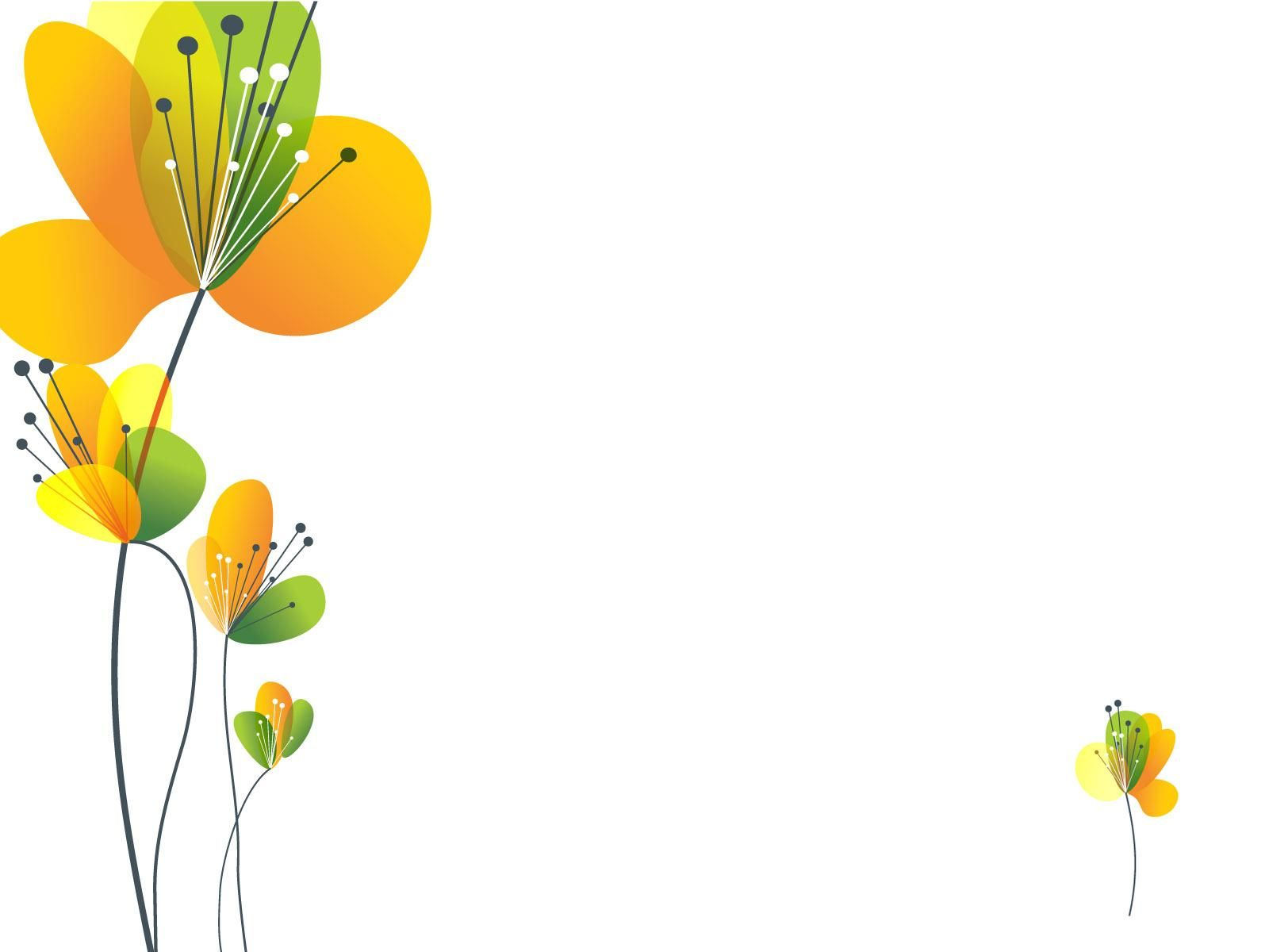 Spring flowers clipart clipart kid - Yellow Spring Flower Ppt Ppt Backgrounds Flowers Green