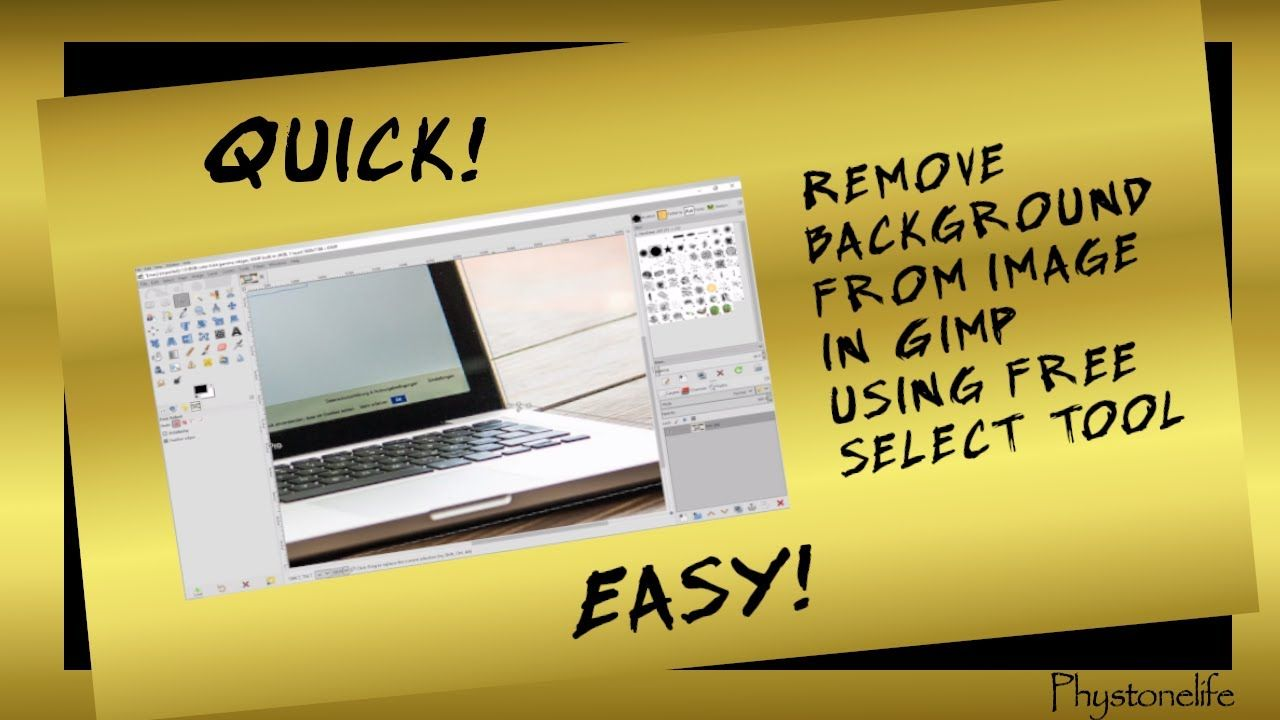 How To Remove Background In Image Using Gimp Free Select Tool How To Remove Image Gimp