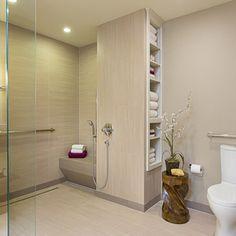 accessible, barrier free, aging-in-place, universal design bathroom remodel - modern - bathroom - austin - Libertas Interior Design Solution...