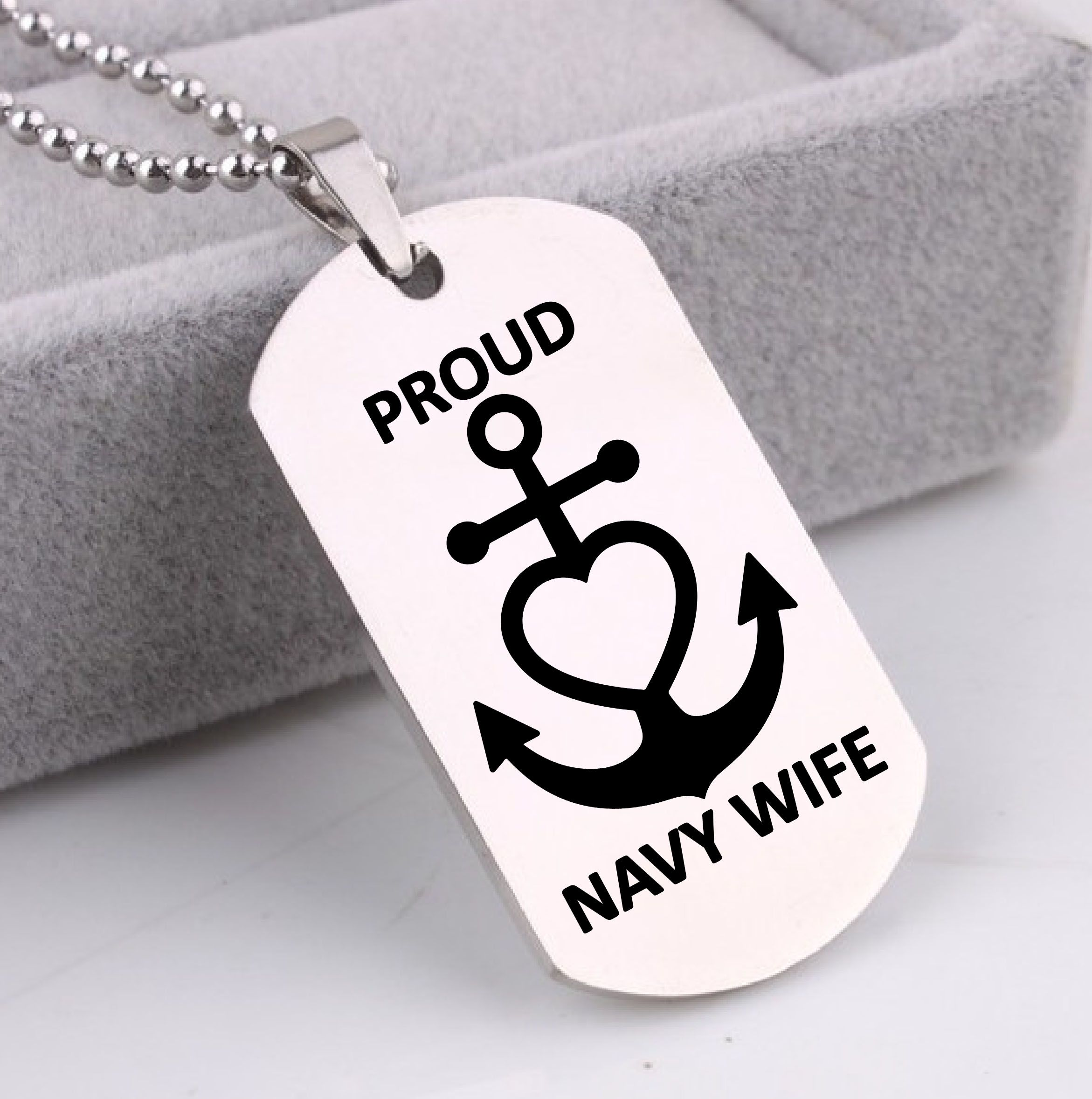 kingdom navy necklace proud wife usaf locket veteran vet and air force products husband silver