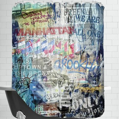 Americanflat We Are All One Shower Curtain