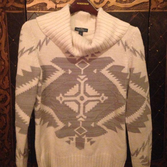 Ralph Lauren Aztec Cowl Neck Sweater Sz medium in excellent condition. Ralph Lauren Sweaters Cowl & Turtlenecks