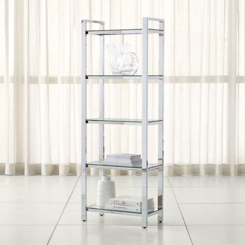 Shop Pilsen Chrome Bookcase Designed By Mark Daniel The Pilsen