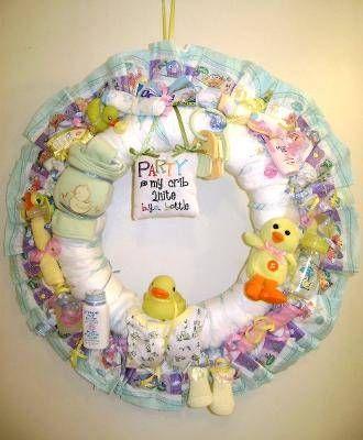 Diaper Wreath Instructions Party Time Pinterest Diaper Wreath