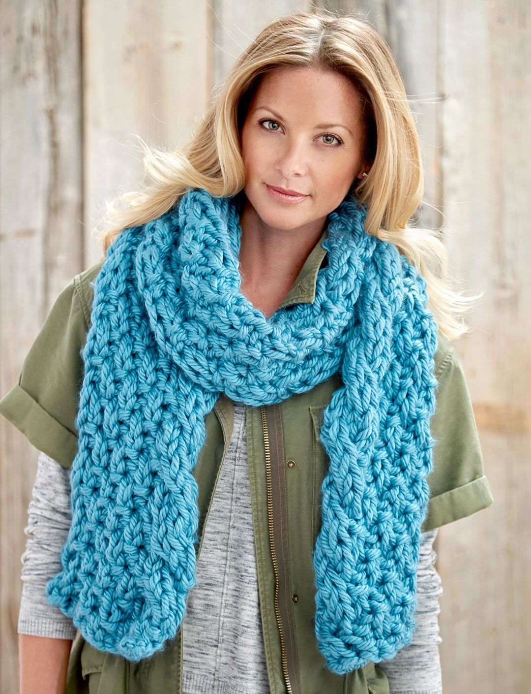 Yarnspirations.com - Bernat Cable Edge Scarf - Patterns ...