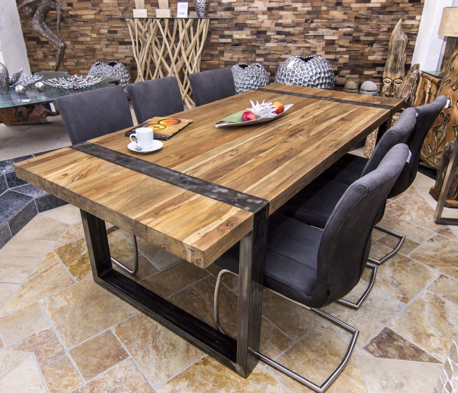 Designtisch Loft Natural Design Tisch Haus Deko Esstisch