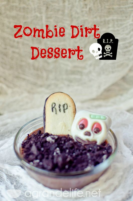 Zombie Dirt #Dessert #halloween #recipe #pinterestfoodie