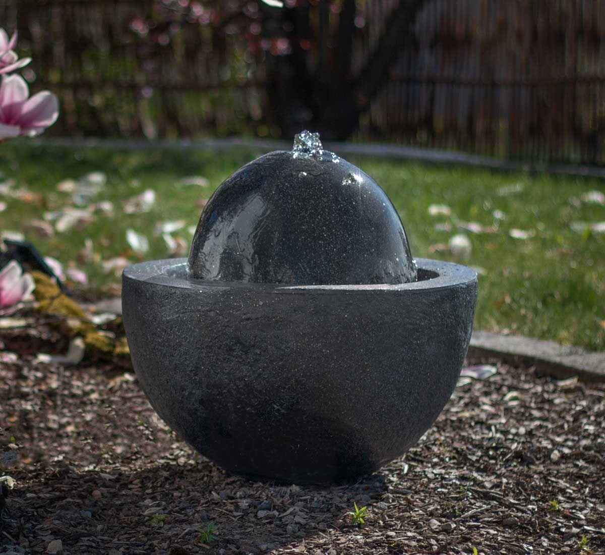 Kugelbrunnen Foball Darkgrey In 2020 Gartenbrunnen Brunnen Garten