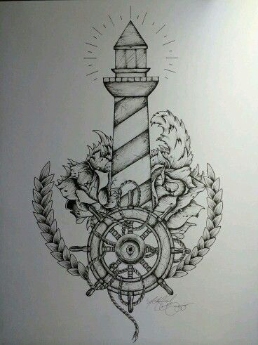 Anker bleistiftzeichnung  Tattoo lighthouse | Tattoo Ideas | Pinterest | Anker-Tätowierungen ...