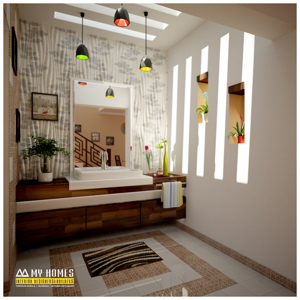Wash area design idea for home interior in kerala images ideas small homes sunken seating and other also my designers builders myhomedesigners on pinterest rh