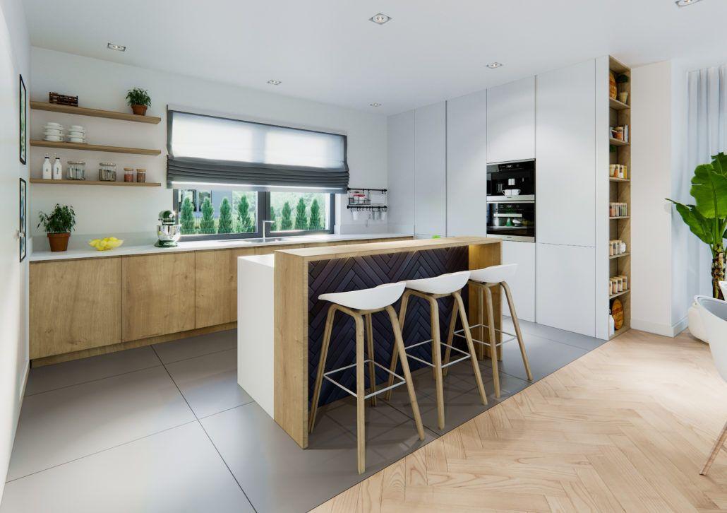 Projekt wnętrza domu w Nadarzynie pracownia Naboo | Küche ...