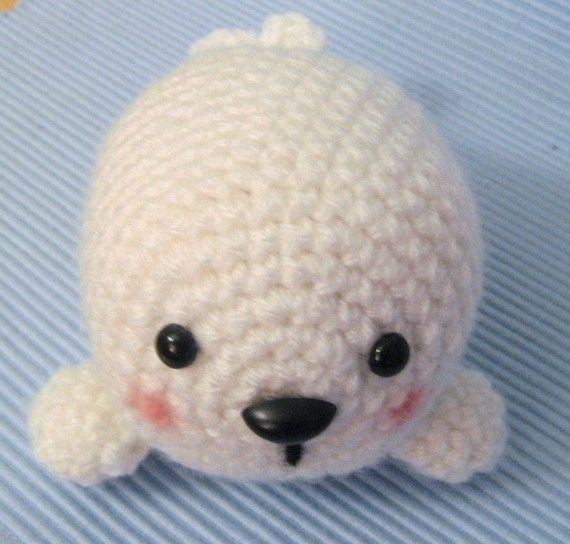 PDF Amigurumi Baby Seal Doll Crochet Pattern by AmyGaines on Etsy, $2.00