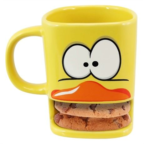 duck mug with biscuit holder | gift | Pinterest