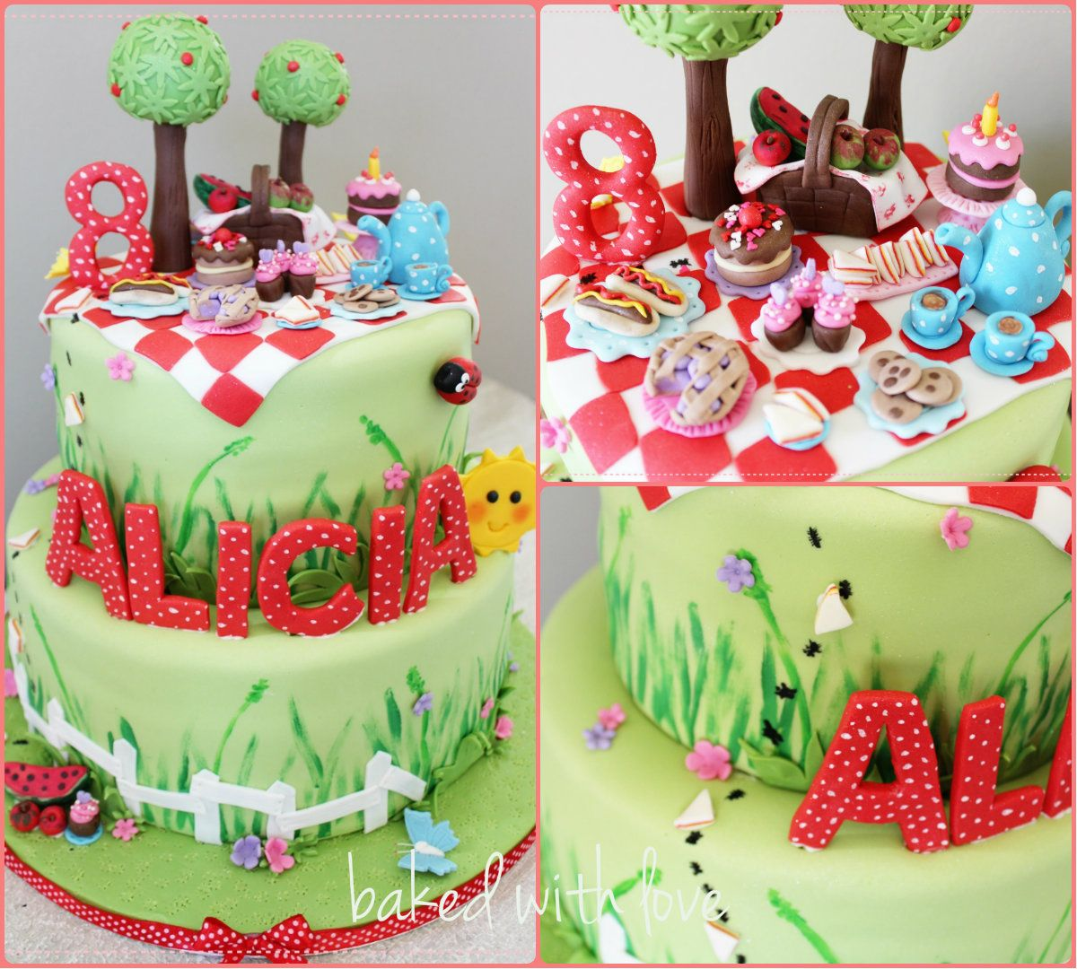 Picnic Themed Decorations Cake For Picnic Theme Kids Party Cakes Pinterest
