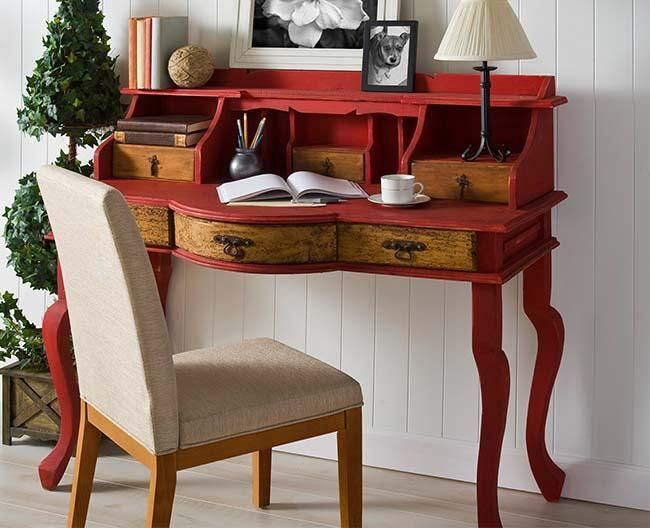 Upcycled Red Writing Desk Crafts Home and The ojays