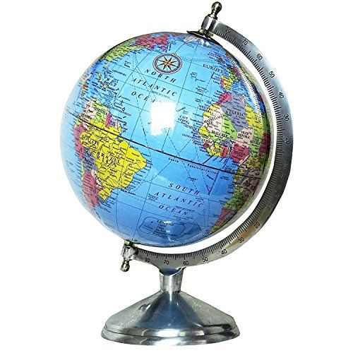 Educational globe 8 diameter educational rotating national educational globe 8 diameter educational rotating national geographic blue laminated world globe with stand large modern political map globes with round gumiabroncs Image collections