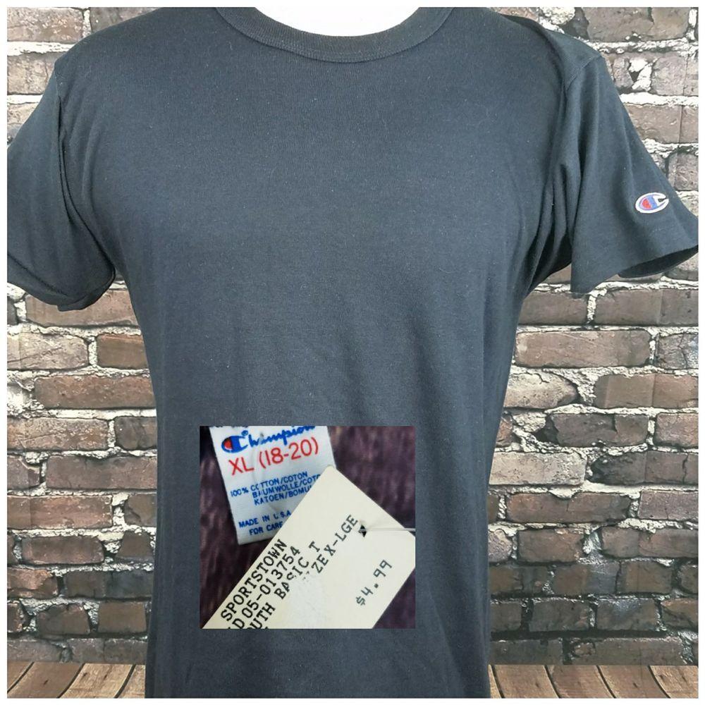 Blank Champion 1990s Vintage TShirt DEADSTOCK NWT