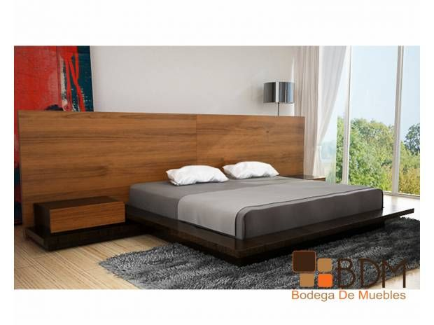 Recamara moderna tama o king size bdm habitaci n for Recamaras de madera modernas king