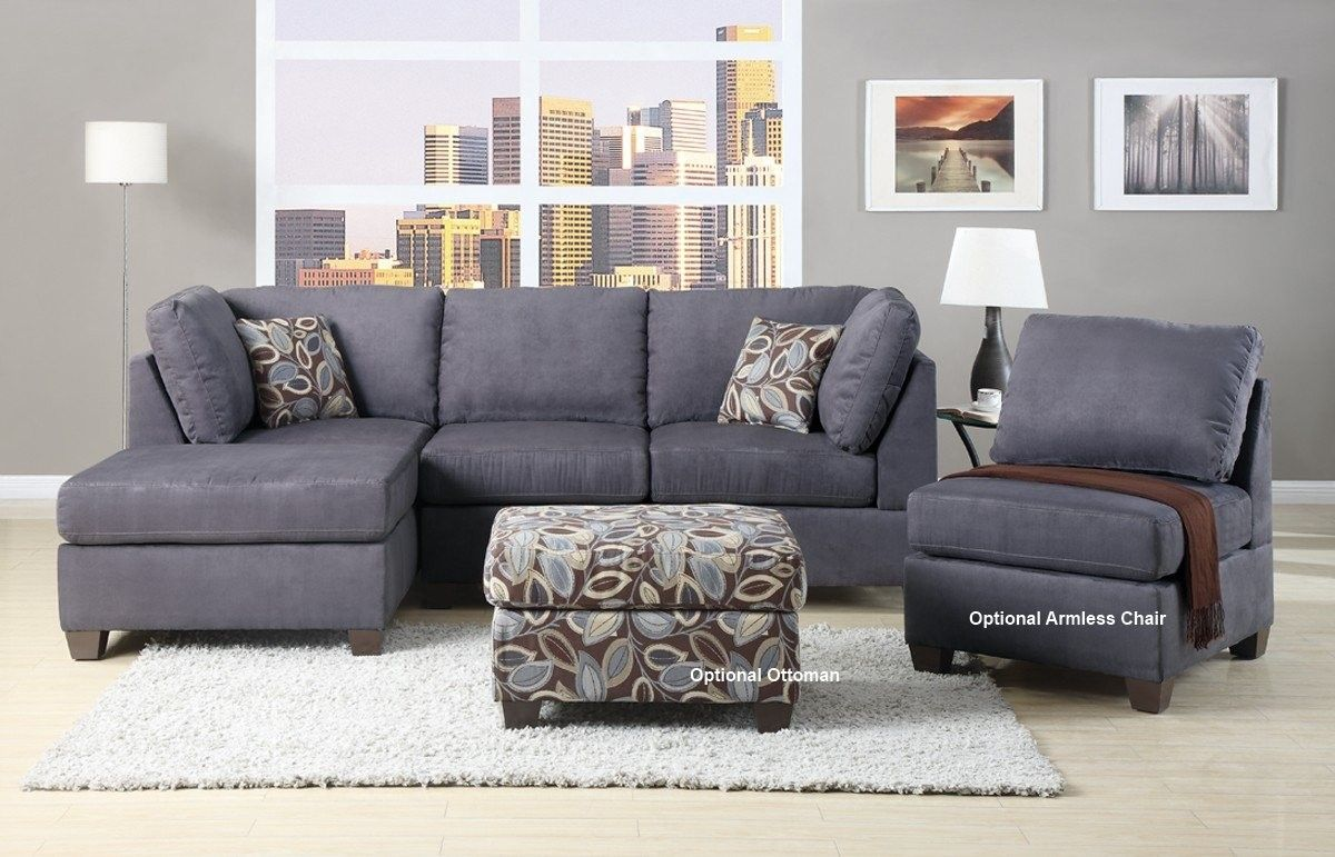 Charcoal Gray Sectional Sofa With Chaise Lounge In 2020 Grey