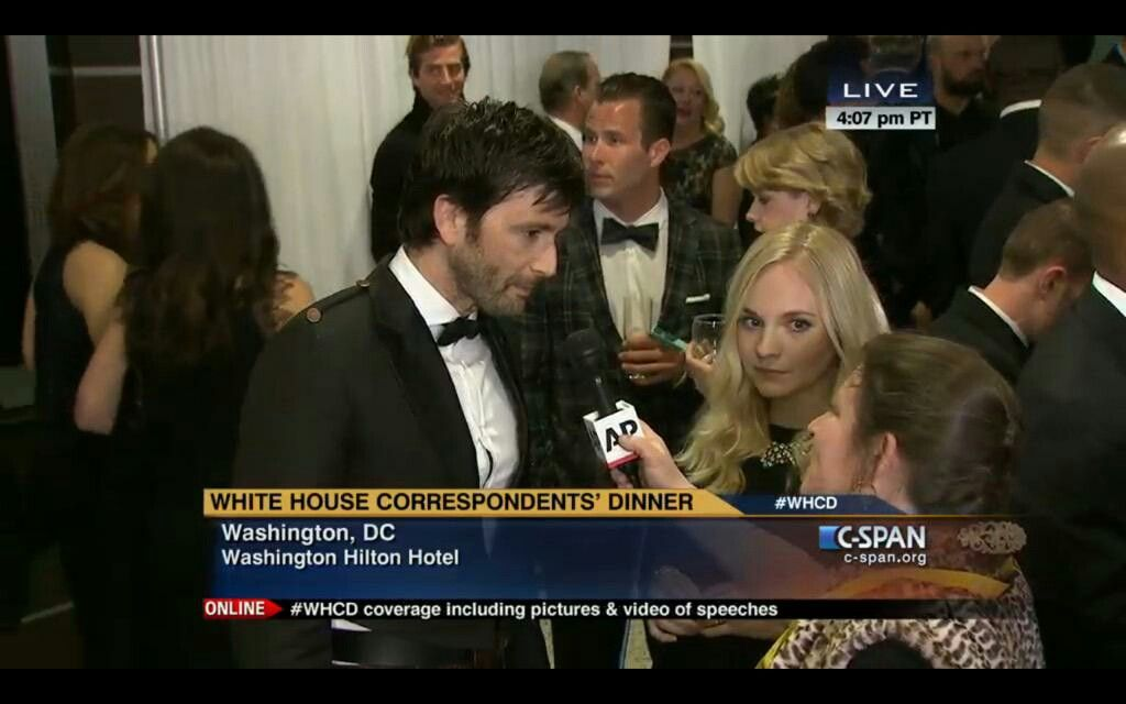 David and Georgia at the White House Correspondent's dinner