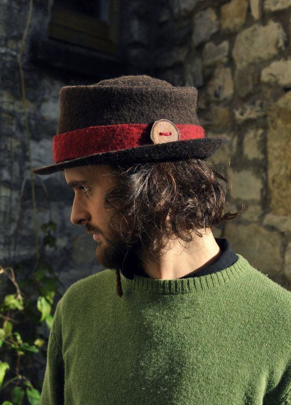 176eb5ad28 Sunlit is our classic rustic trilby hat, with a deep red band ...